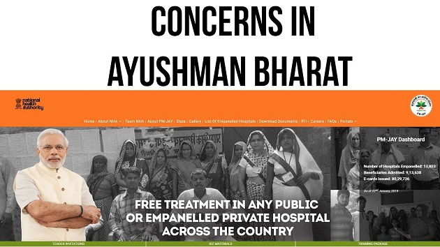 Concerns in Ayushman Bharat