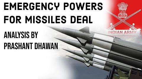 Army invokes Emergency Powers for Missile Deal