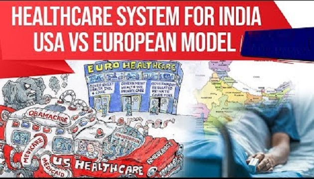 Healthcare System for India, Difference in USA & European healthcare model?