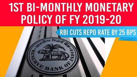 1st Bimonthly Monetary Policy review – April 2019