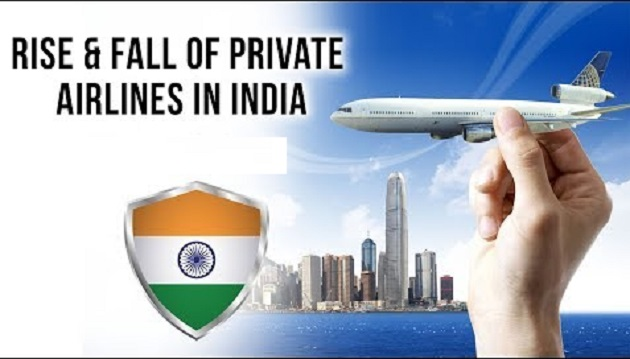 Rise and fall of Private Airlines in India