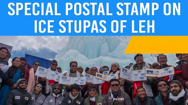 Special Postal Stamp on Ice Stupas released