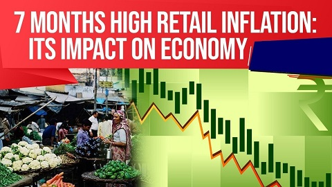 Retail inflation at 7 month high