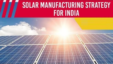 India's solar manufacturing strategy