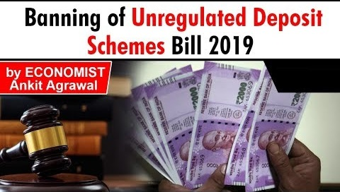 Banning of Unregulated Deposit Schemes Bill, 2019