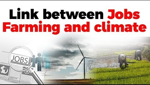 Link between Jobs, Farming, and Climate