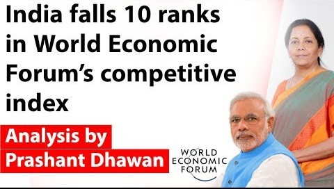 India falls 10 ranks in World economic forum's Global competitiveness index