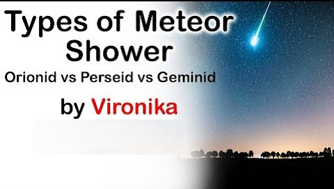Types of Meteor Shower, Difference in Orionid, Perseid & Geminid explained
