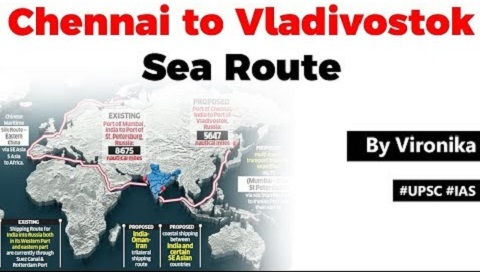 Chennai to Vladivostok Sea Route