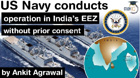 US Navy operation in Exclusive Economic Zone of India without consent – What is EEZ? India US Ties