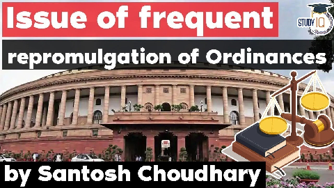 What is Ordinance? How frequent re-promulgation of ordinances violates the spirit of the Constitution?