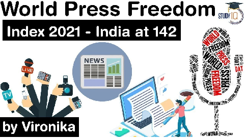 World Press Freedom Index 2021 – India ranks 142nd out of 180 countries